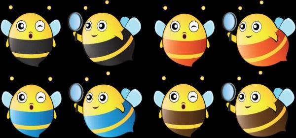 Cartoon cute bee vector graphics