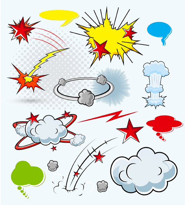 Cartoon explosion 2 vector