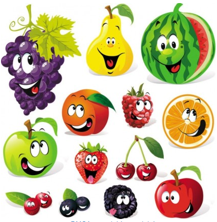 Cartoon fruit expression 04 vector
