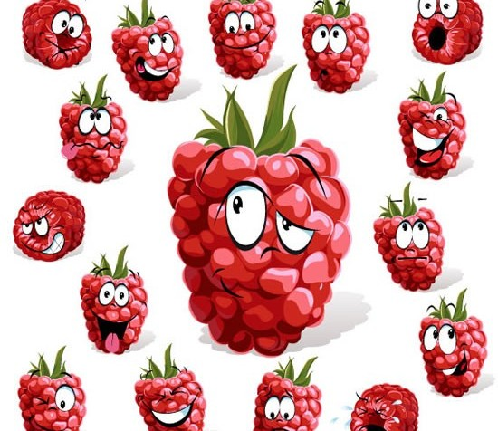 Cartoon fruit set 2 vector