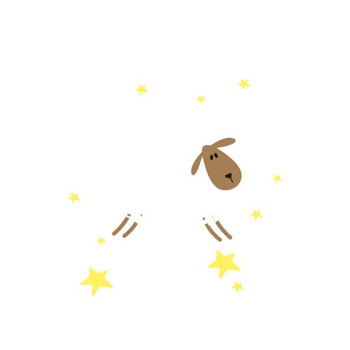Cartoon goodnight sheep vector