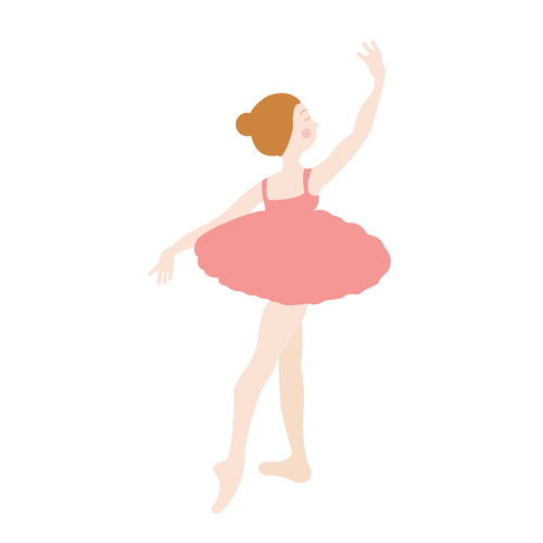 Cartoon Hand Drawn Ballet Dancer Vector Free Download