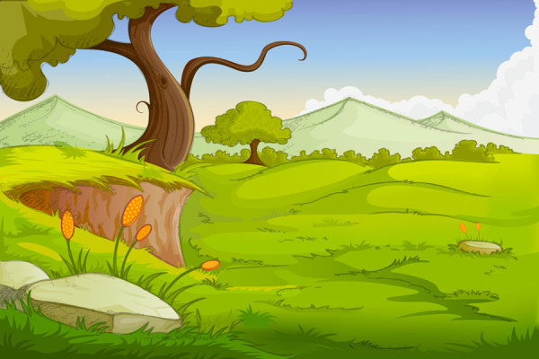Cartoon jungle background 11 creative vector