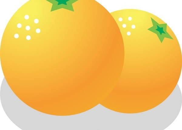 Cartoon orange shiny vector