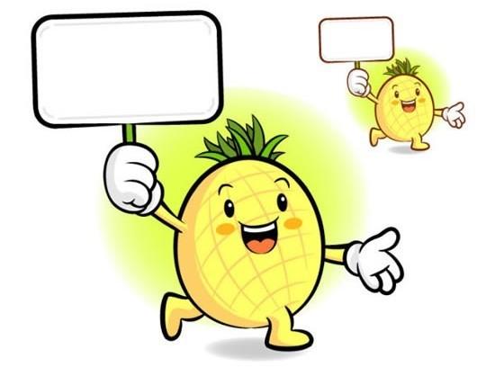 Cartoon pineapple fruit vector