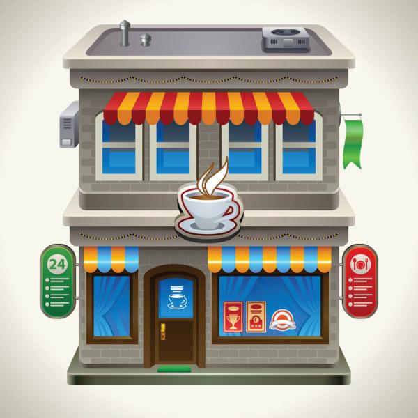 Cartoon restaurant 5 vector