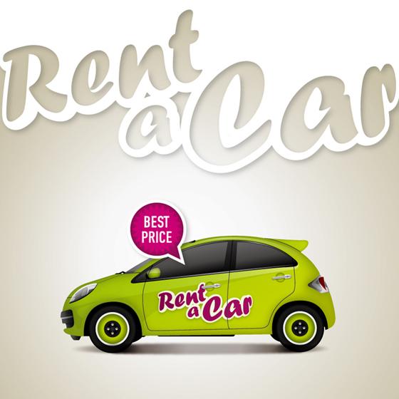 Cartoon taxi background set vector