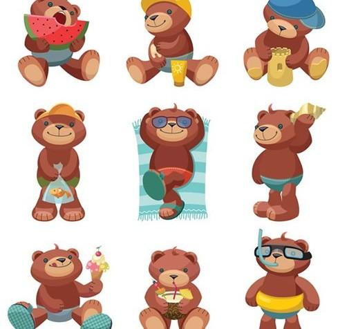 Cartoon toy bear vector