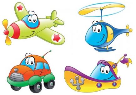 Cartoon transport 01 vector