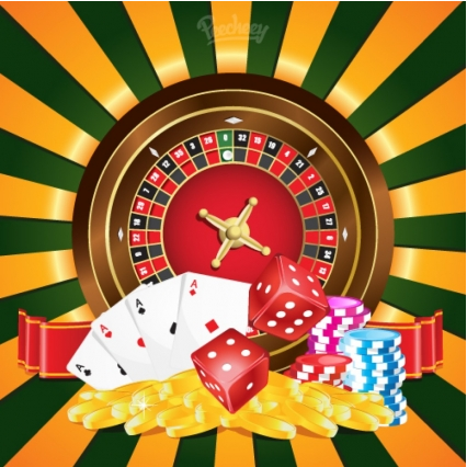 Casino poster illustration Free vector