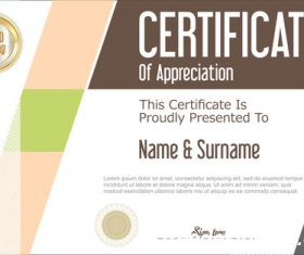 Certificate with diploma geometric template vectors 09