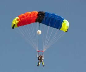 Challenging paragliding Stock Photo 01