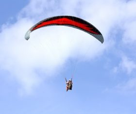 Challenging paragliding Stock Photo 03