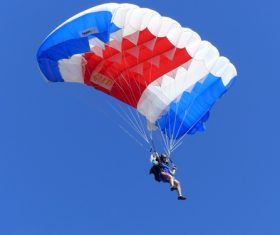 Challenging paragliding Stock Photo 05