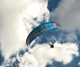 Challenging paragliding Stock Photo 06
