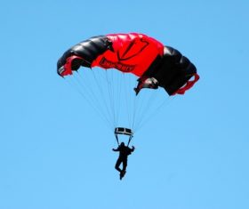 Challenging paragliding Stock Photo 07