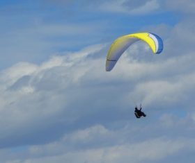 Challenging paragliding Stock Photo 09