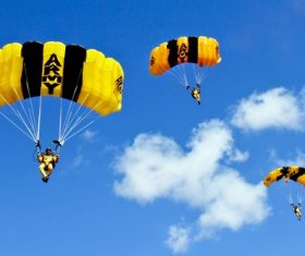 Challenging paragliding Stock Photo 11