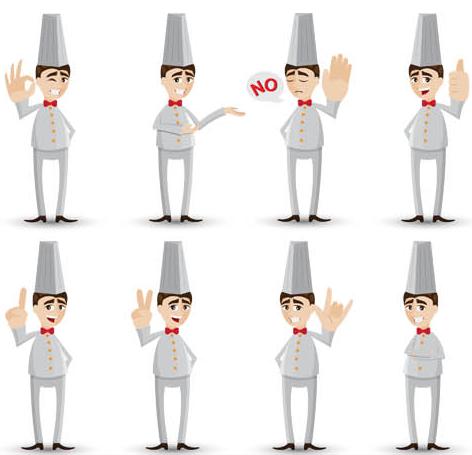 Chefs Set 2 Illustration vector