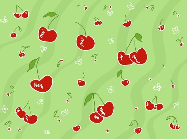 Cherry Pattern Illustration vector
