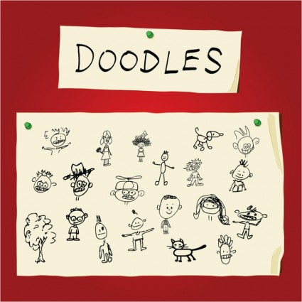 Children Art Doodles vector