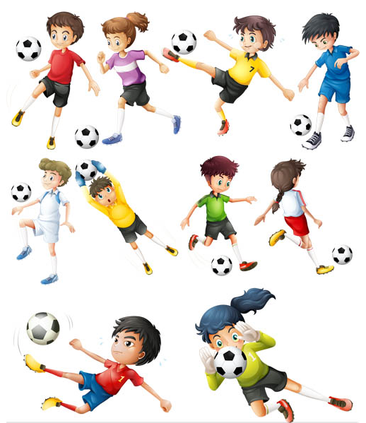 Children and Sport set vector