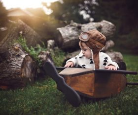 Children outdoor art photo Stock Photo