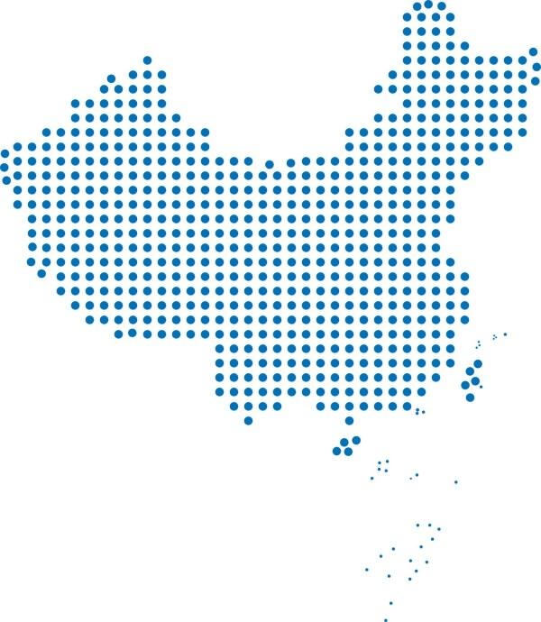 Chin Map vector set