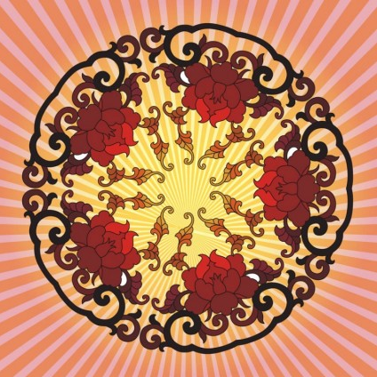 Chinese Flower free creative vector