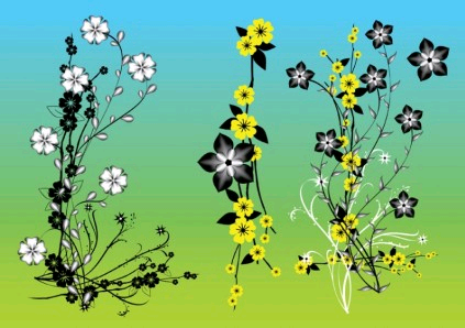 Chinese Flowers Art vector