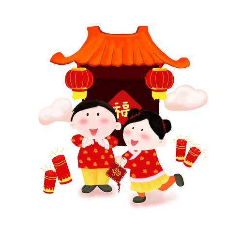 Chinese new year celebration vector element