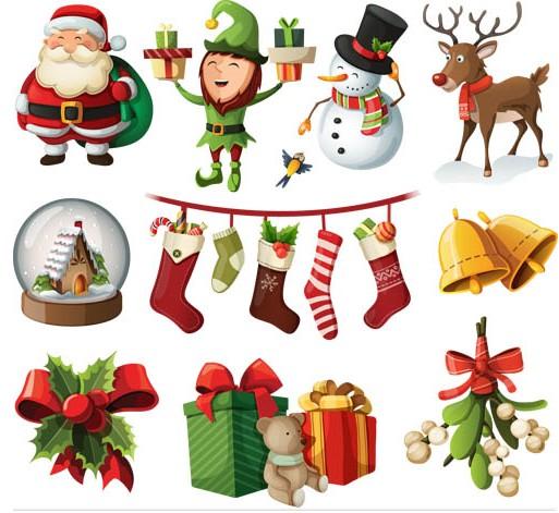 Christmas Attributes set vector