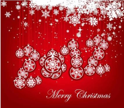 Christmas Balls Snowflake Background vector