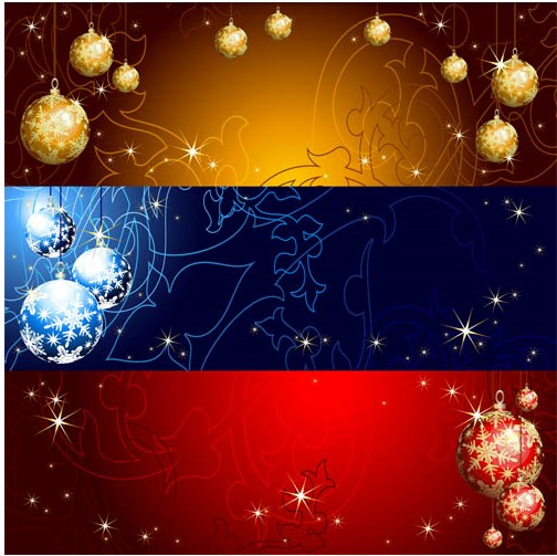 Christmas Banners 3 vector