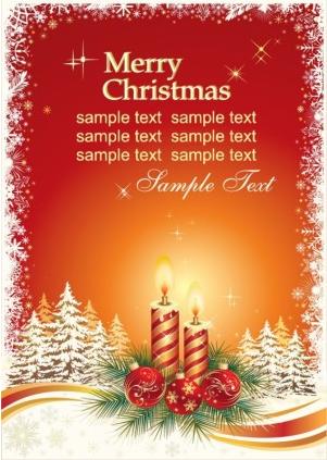 Christmas Card Template vectors