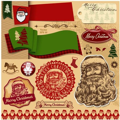 Christmas Color Elements vector design