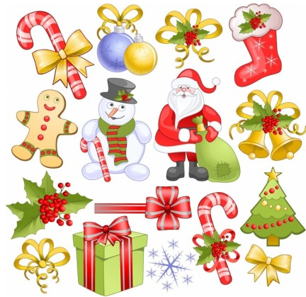Christmas Elements Set vector graphics