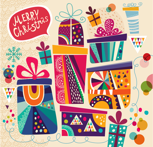 Christmas Gifts cards 2 vector