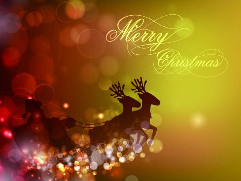 Christmas Halation background 1 vector