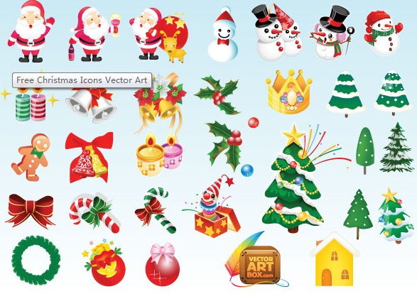 Christmas Icons vector material