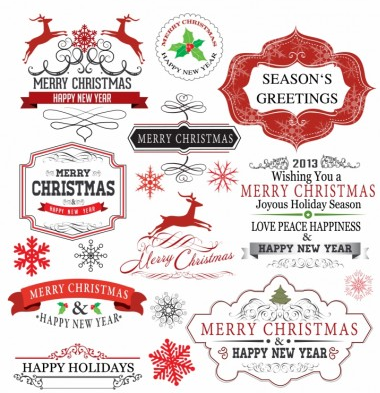 Christmas Labels vectors