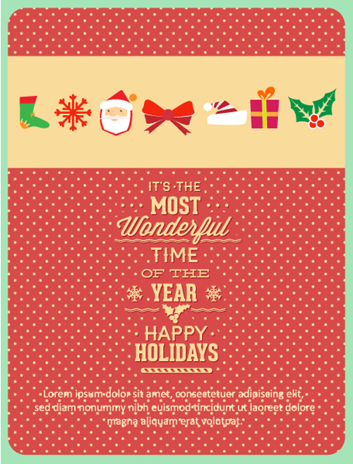 Christmas New Year background 3 vector