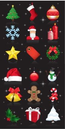 Christmas Ornaments Set vector