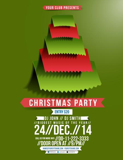 Christmas Party Poster.Christmas Party Poster 2 Design Vector Free Download