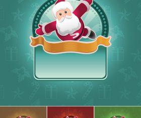 Christmas Santa Banner Vectors Material