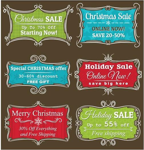 Christmas Shiny Elements vector