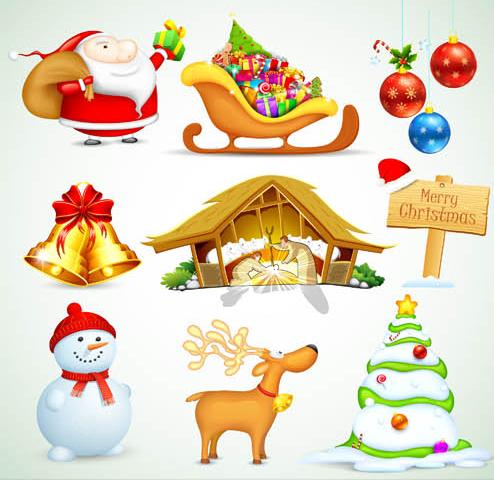 Christmas Shiny Mix 2 vector