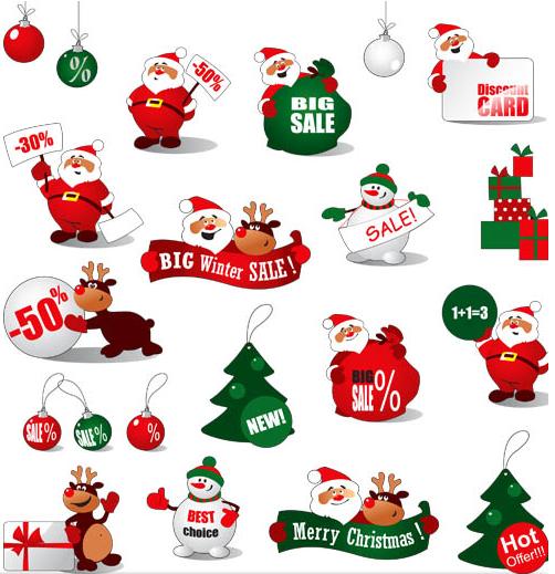 Christmas Symbols Mix 1 vector graphics