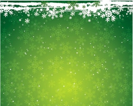 Christmas Theme Background and Snowflake Vector