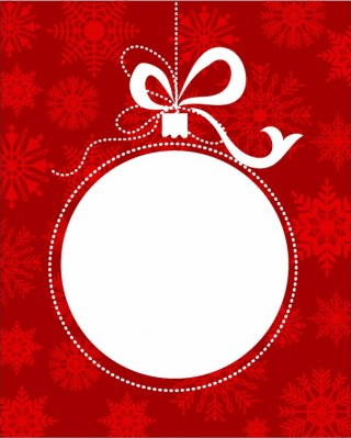 Christmas ball frame Illustration vector